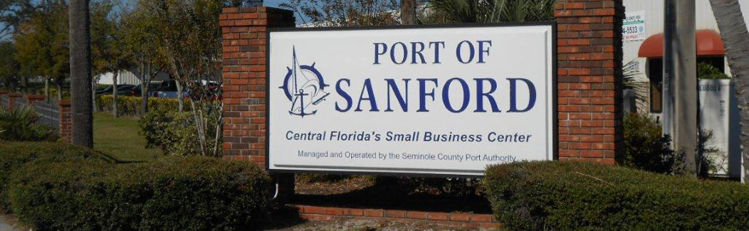 Port of Sanford Entrance
